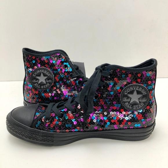 9c1cf0a812f1 Converse Shoes - Converse Chuck Taylor All Star Sequin High Tops